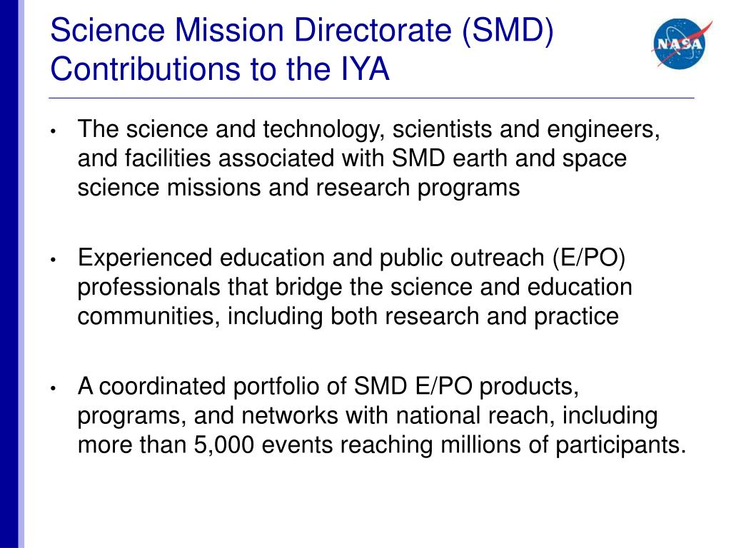 Science Mission Directorate (SMD)