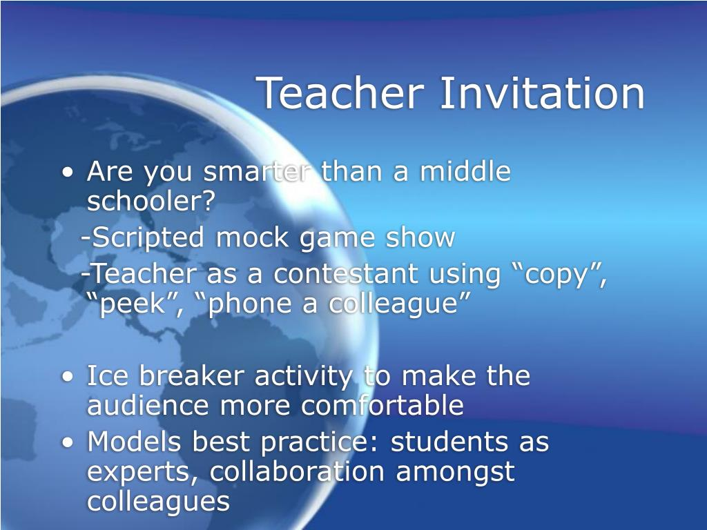 Teacher Invitation