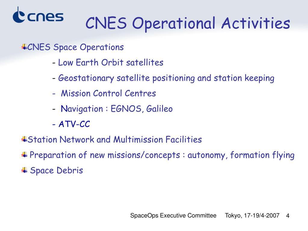 CNES Operational Activities