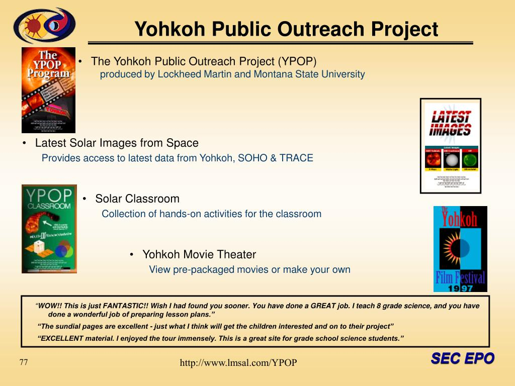 Yohkoh Public Outreach Project