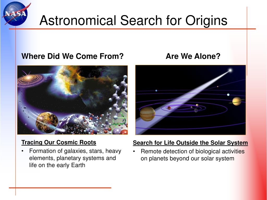 Astronomical Search for Origins