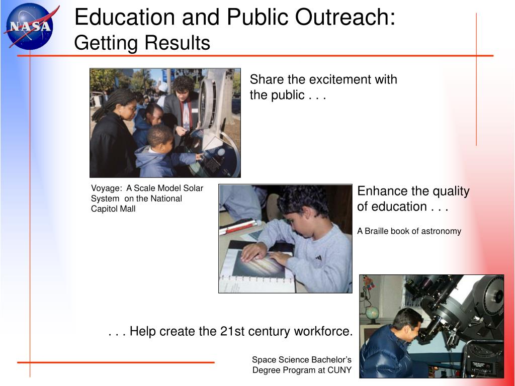 Education and Public Outreach: