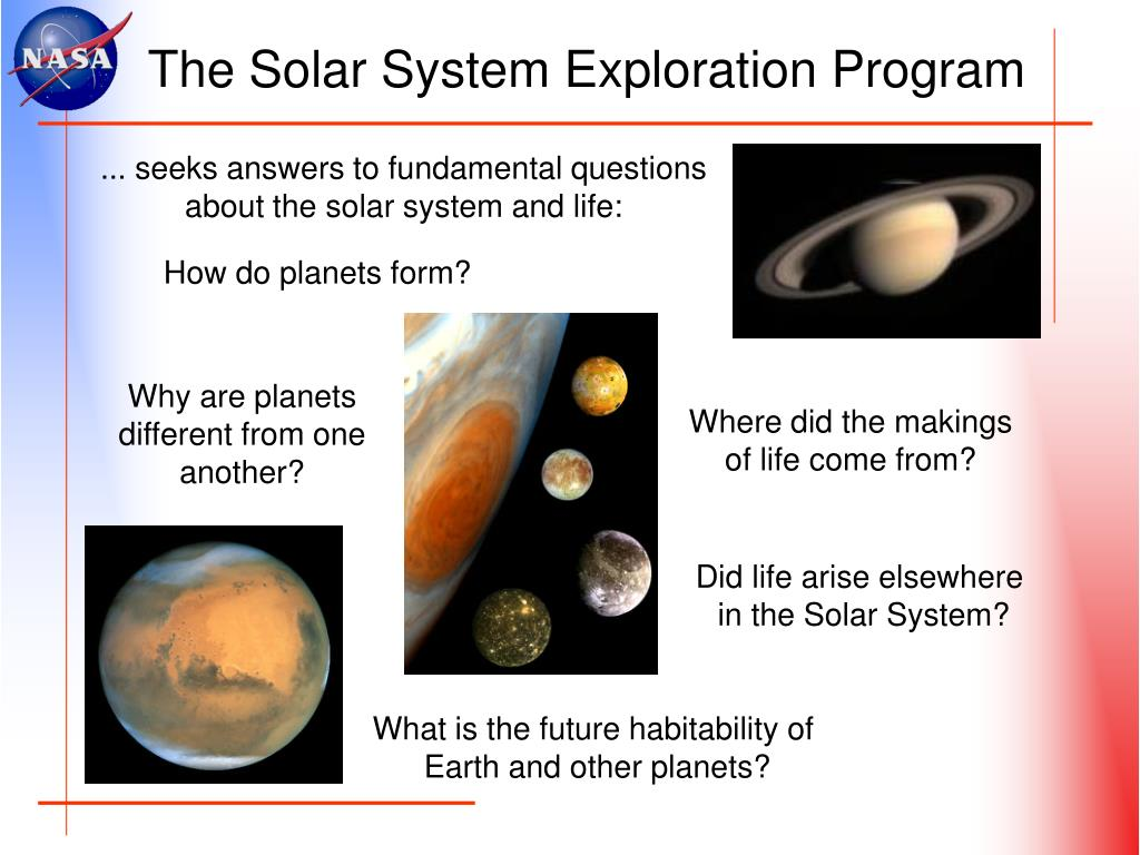 The Solar System Exploration Program