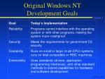 original windows nt development goals
