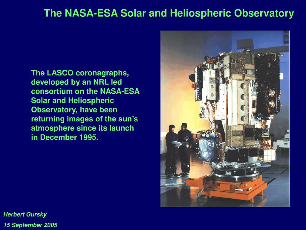The NASA-ESA Solar and Heliospheric Observatory