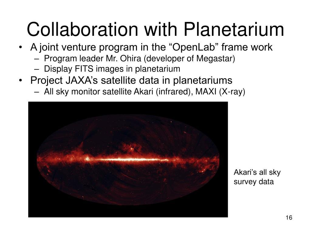 Collaboration with Planetarium
