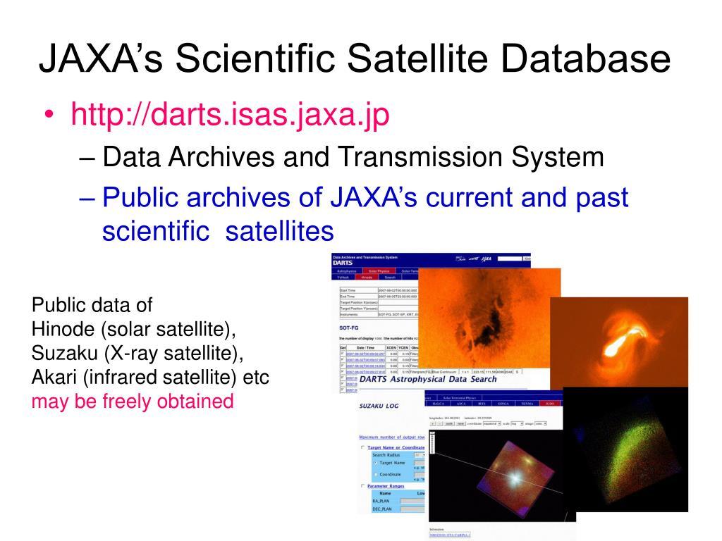 JAXA's Scientific Satellite Database