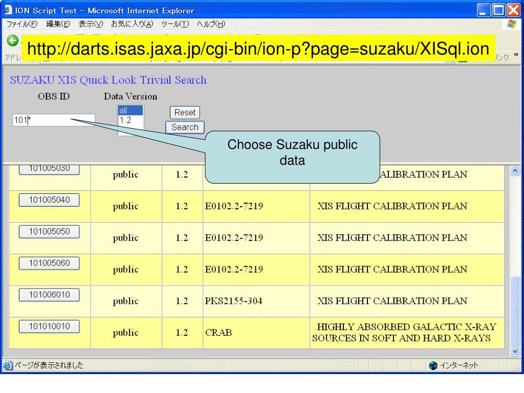 http://darts.isas.jaxa.jp/cgi-bin/ion-p?page=suzaku/XISql.ion