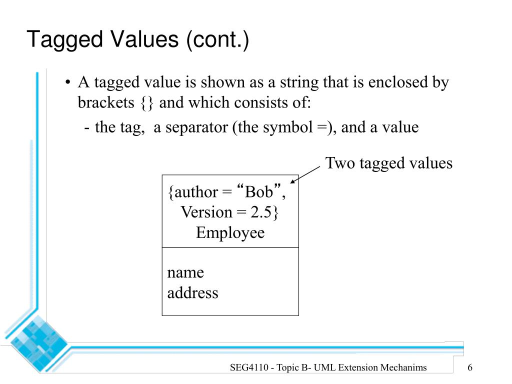 Two tagged values