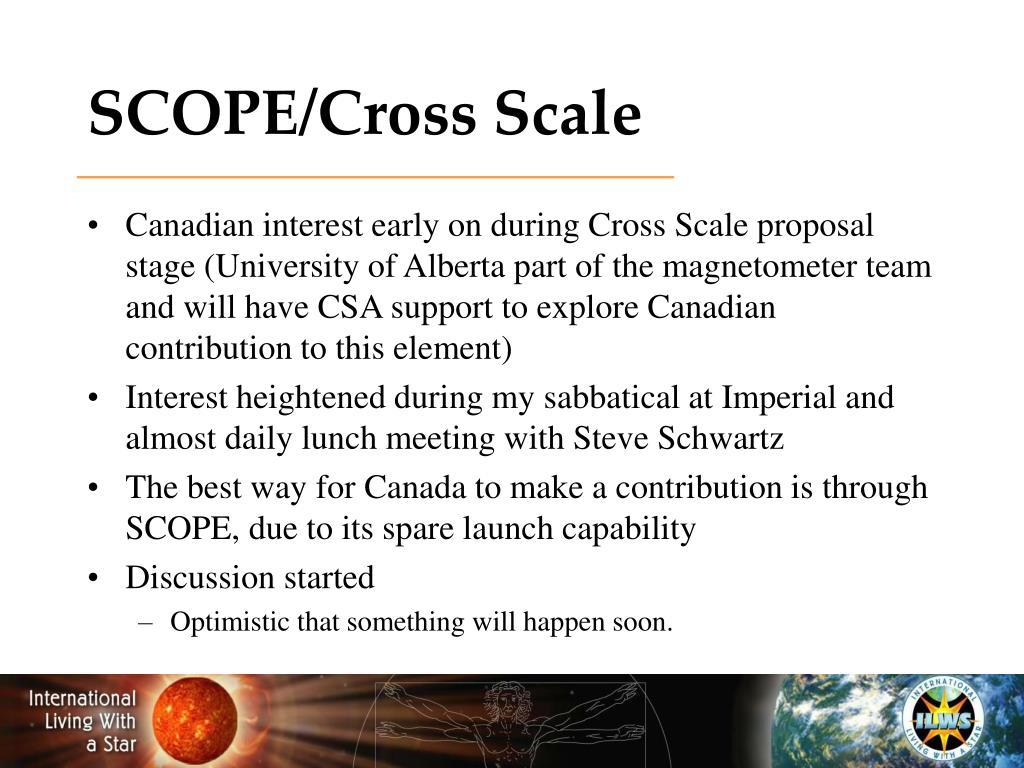 SCOPE/Cross Scale