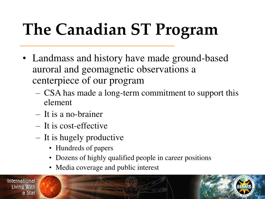 The Canadian ST Program