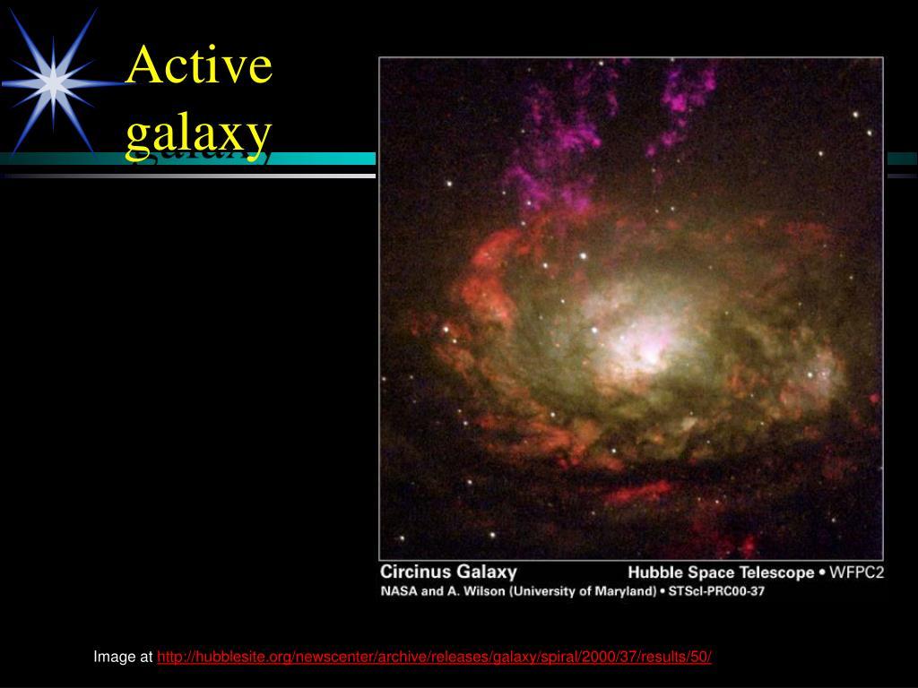 Active galaxy