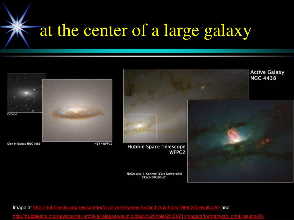 at the center of a large galaxy