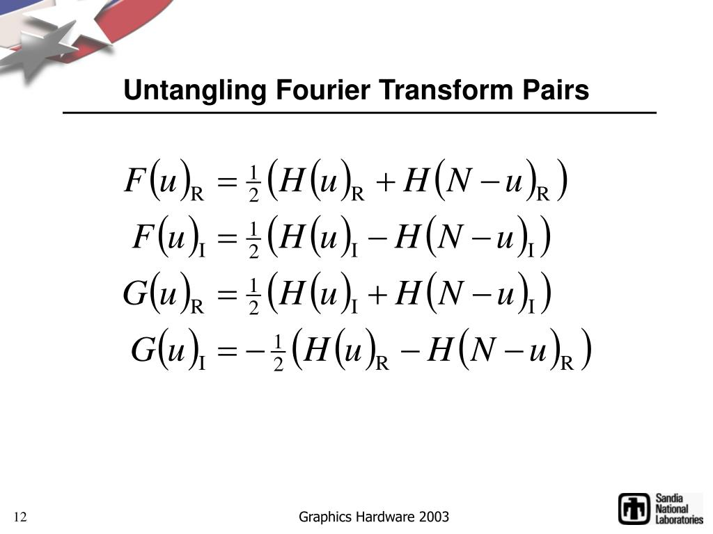 Untangling Fourier Transform Pairs