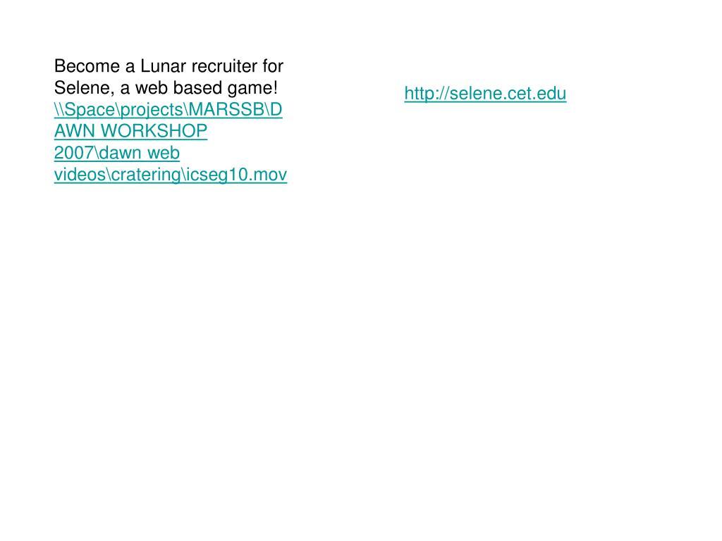 Become a Lunar recruiter for