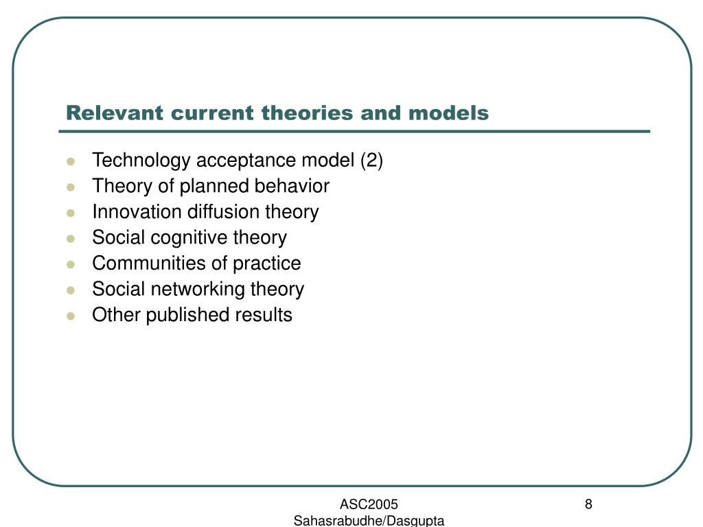 Relevant current theories and models