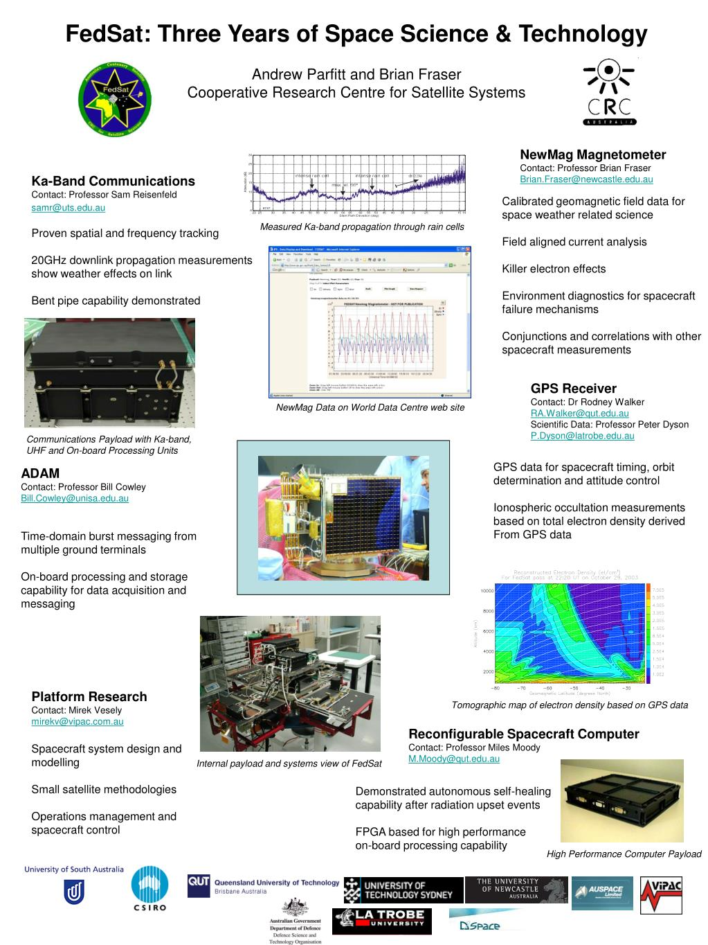 FedSat: Three Years of Space Science & Technology