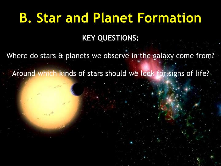 B star and planet formation