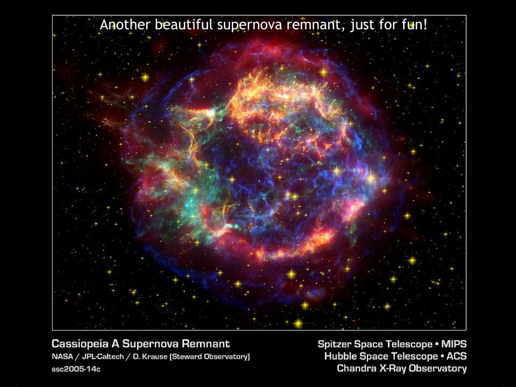 Another beautiful supernova remnant, just for fun!