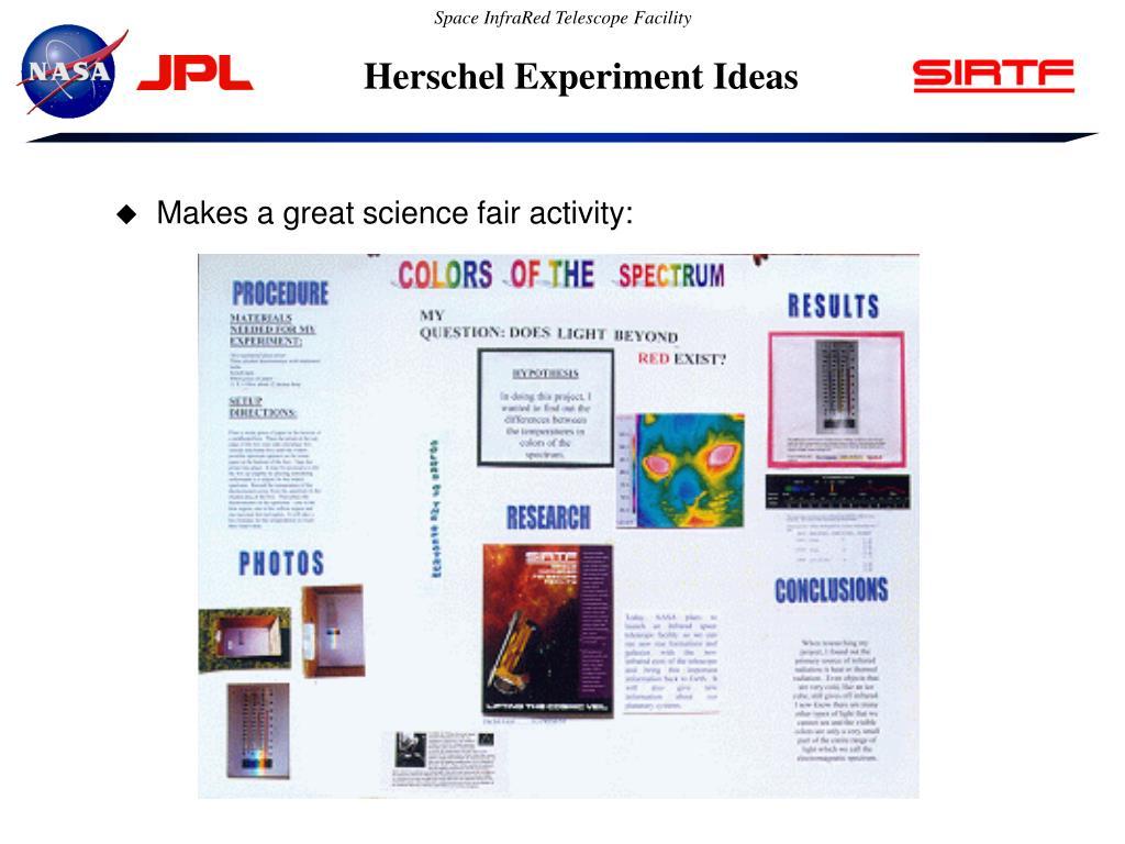 Herschel Experiment Ideas