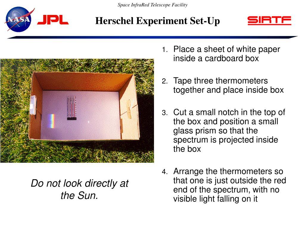 Herschel Experiment Set-Up
