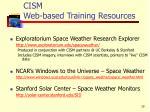 cism web based training resources