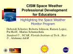 highlighting the space weather monitor program
