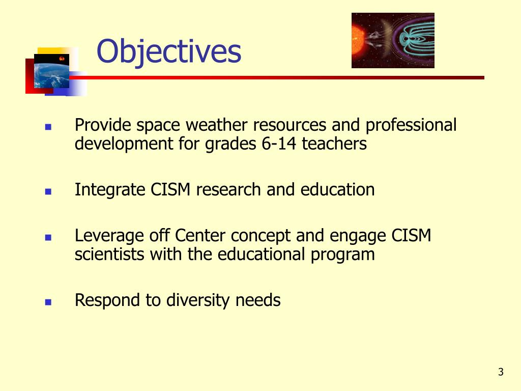 Provide space weather resources and professional development for grades 6-14 teachers