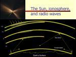 the sun ionosphere and radio waves