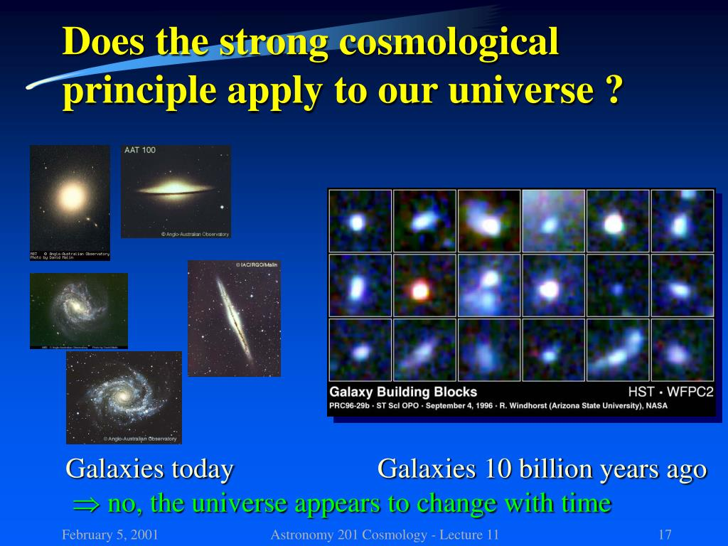 Does the strong cosmological principle apply to our universe ?