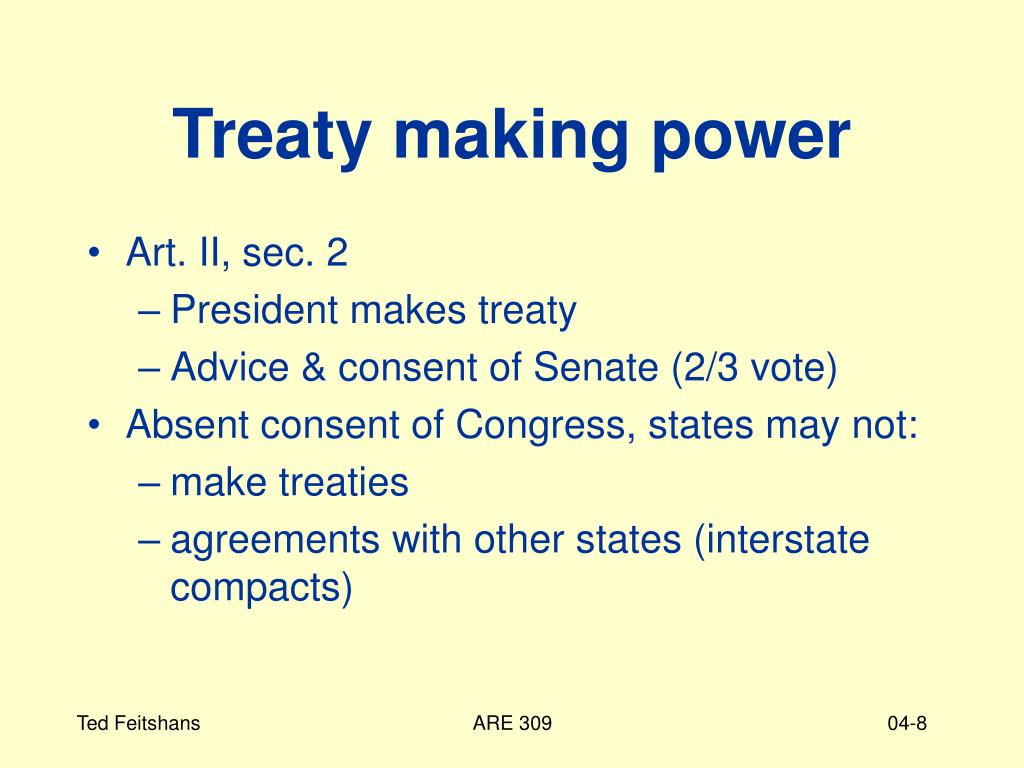 Treaty making power