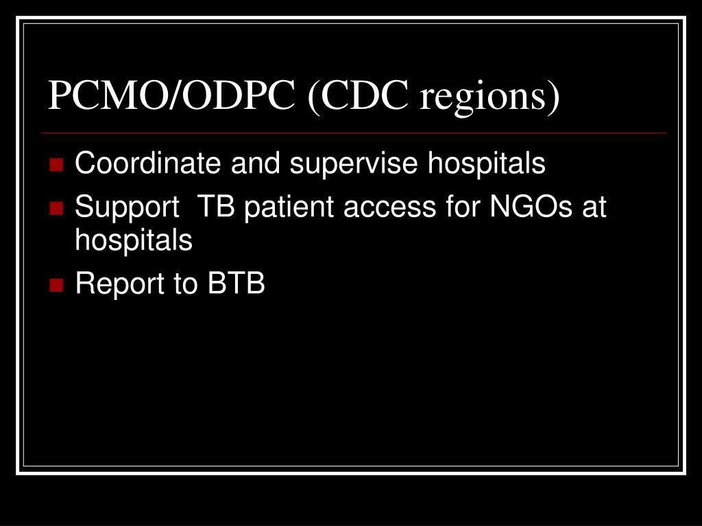 PCMO/ODPC (CDC regions)
