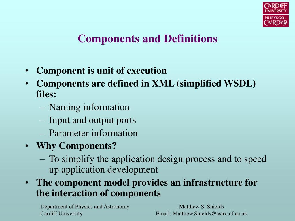 Components and Definitions