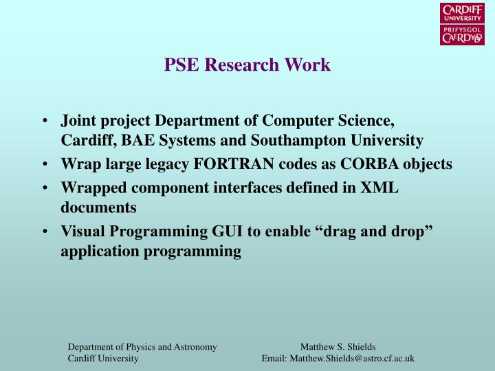 Pse research work