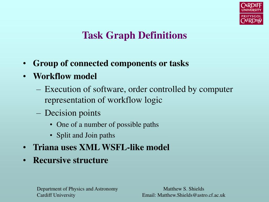 Task Graph Definitions
