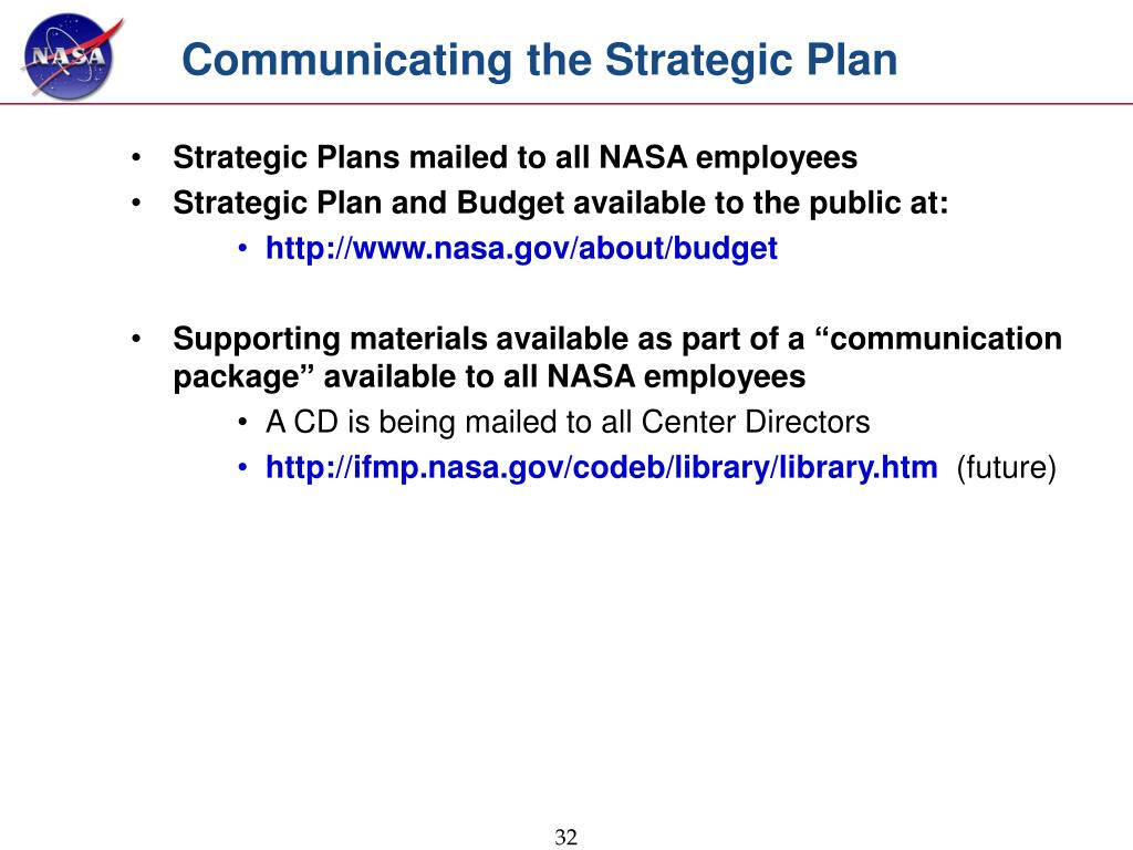 Communicating the Strategic Plan