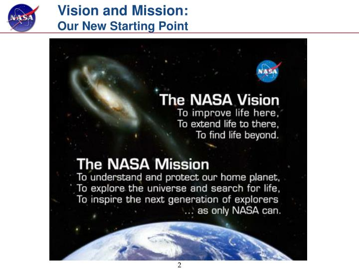 Vision and mission our new starting point l.jpg