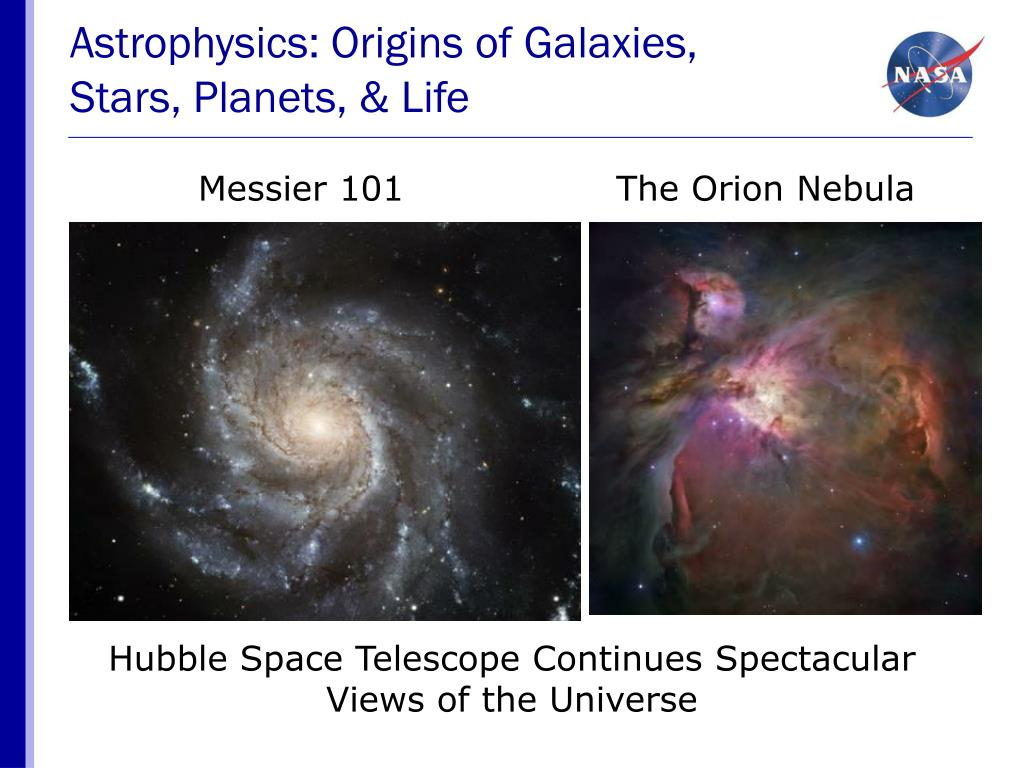 Astrophysics: Origins of Galaxies,
