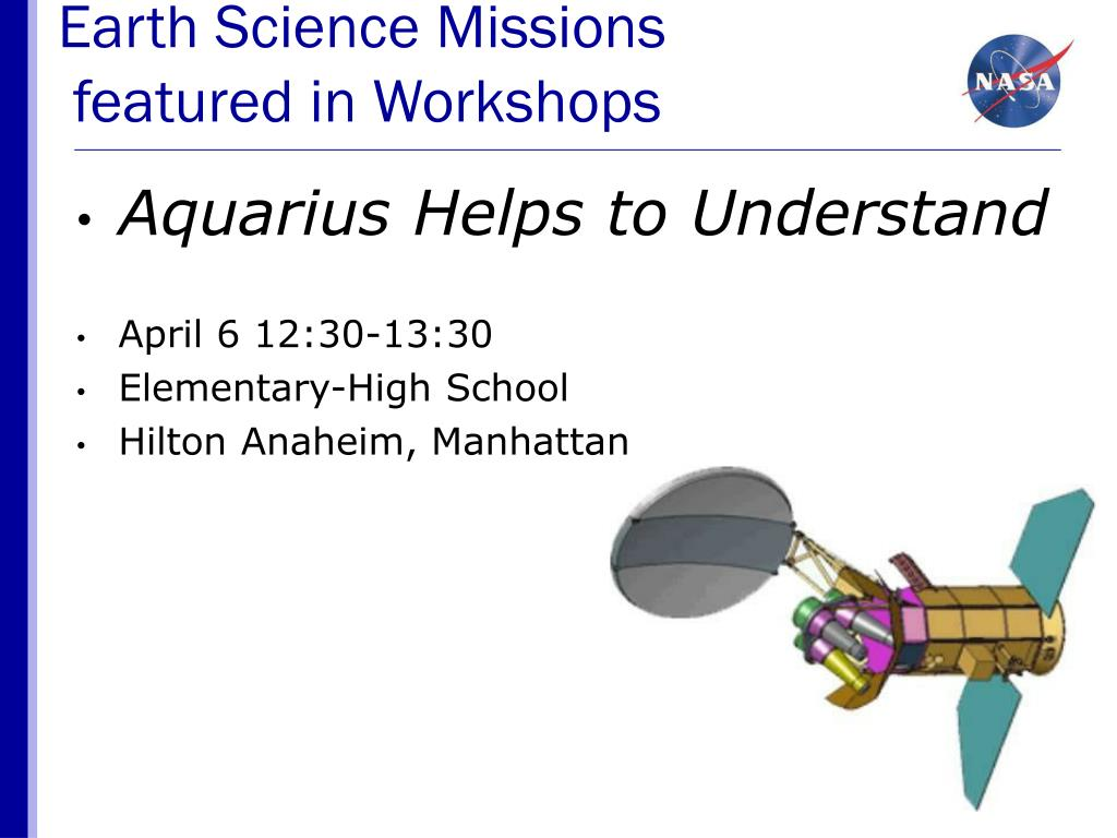 Earth Science Missions