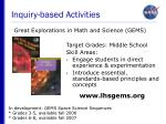 inquiry based activities