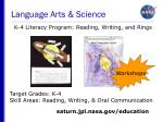 language arts science