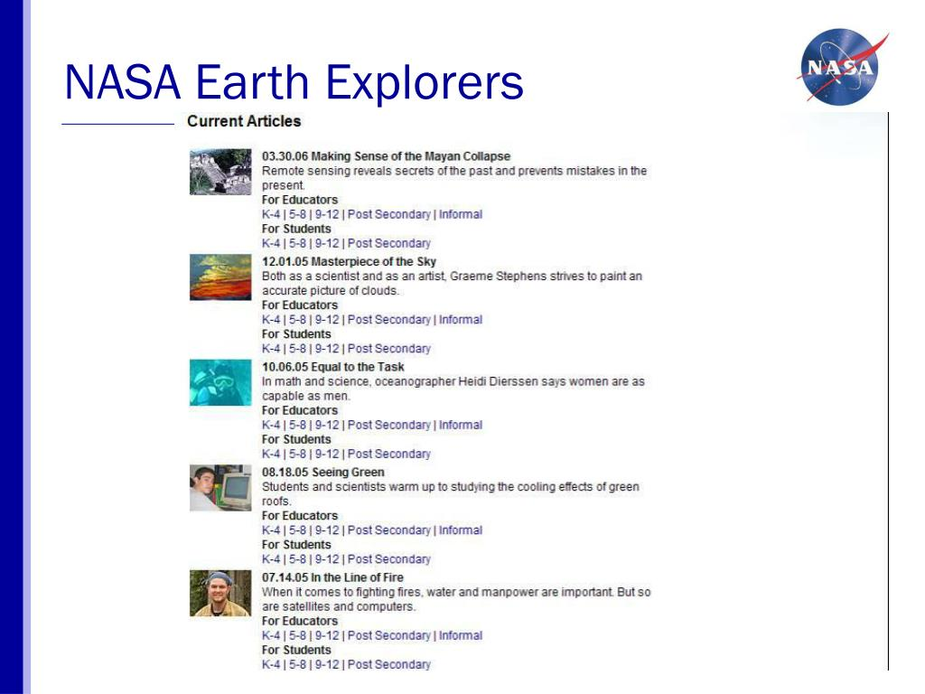 NASA Earth Explorers