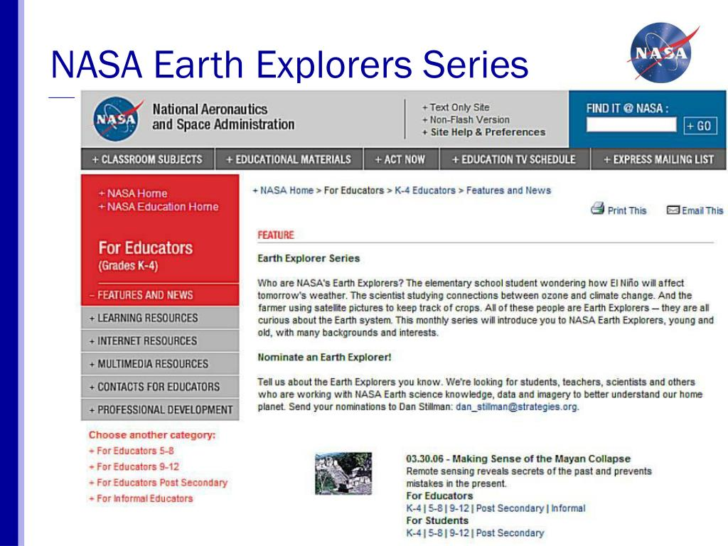 NASA Earth Explorers Series