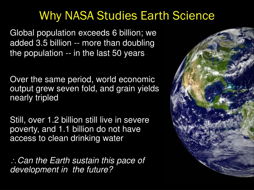 Why NASA Studies Earth Science