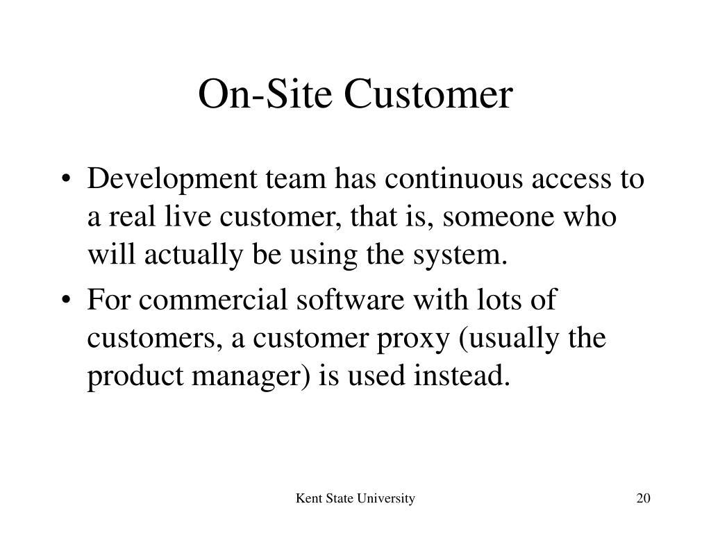 On-Site Customer
