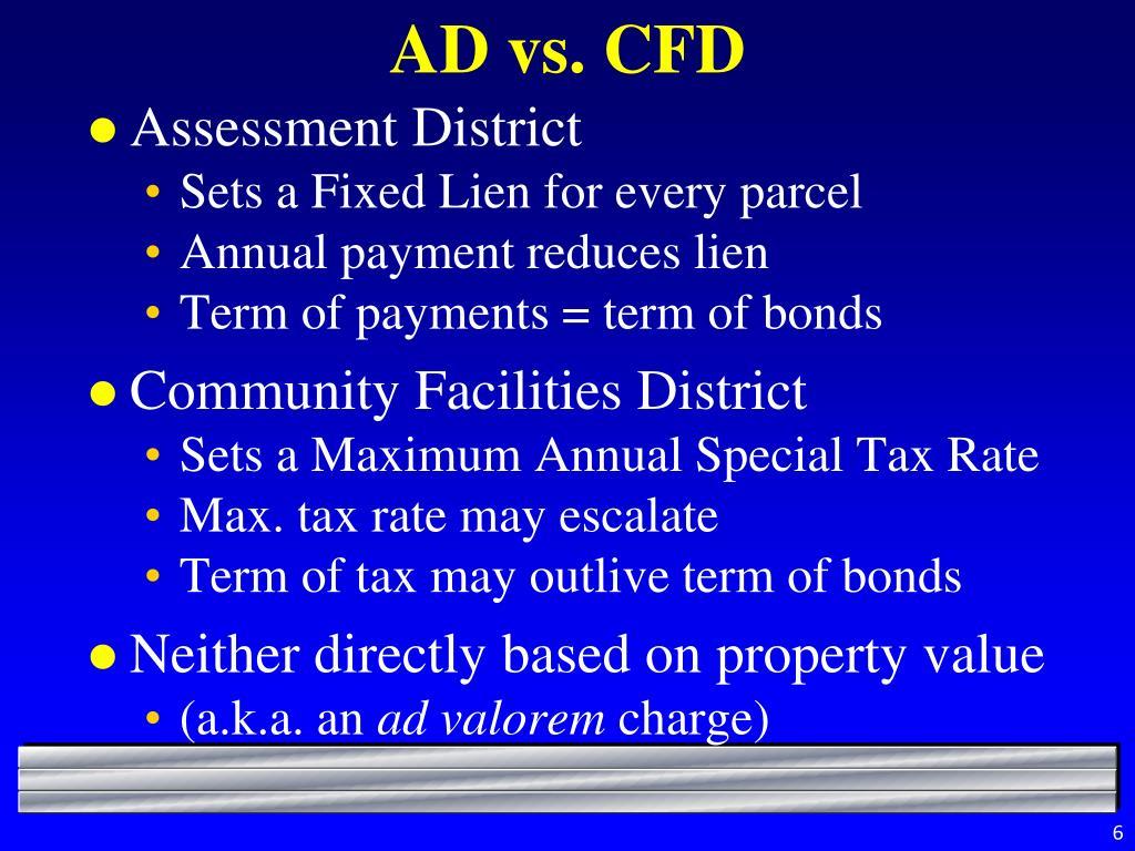AD vs. CFD