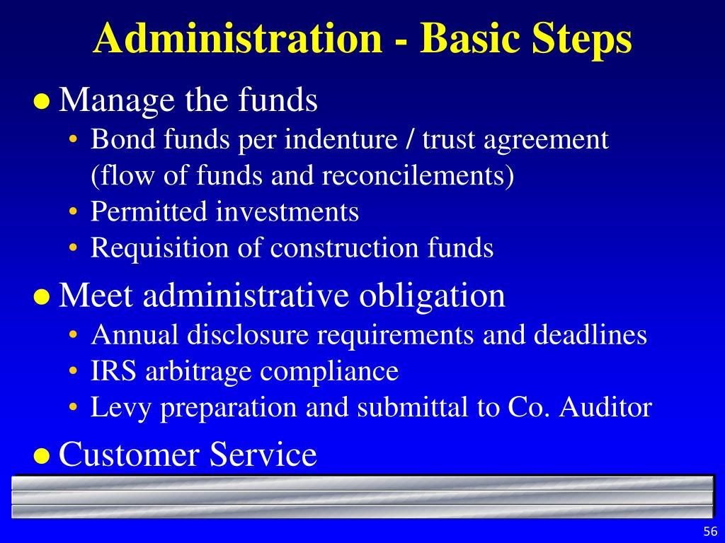 Administration - Basic Steps