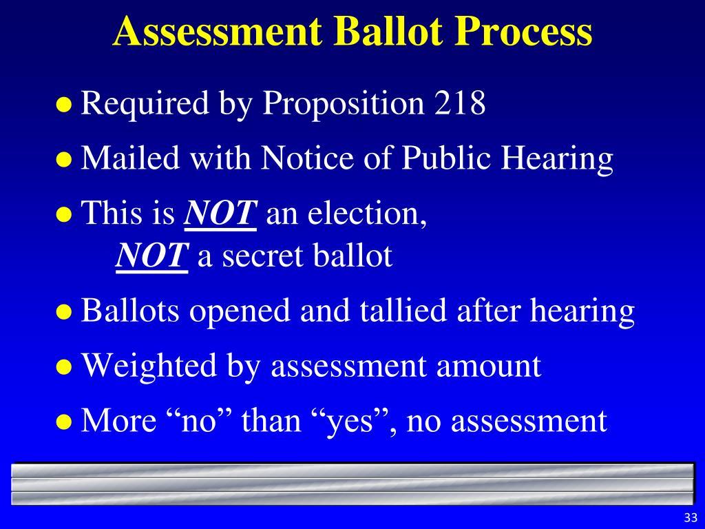 Assessment Ballot Process