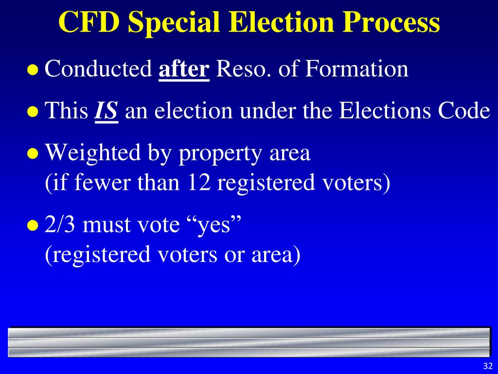 CFD Special Election Process