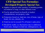 cfd special tax formulas developed property special tax